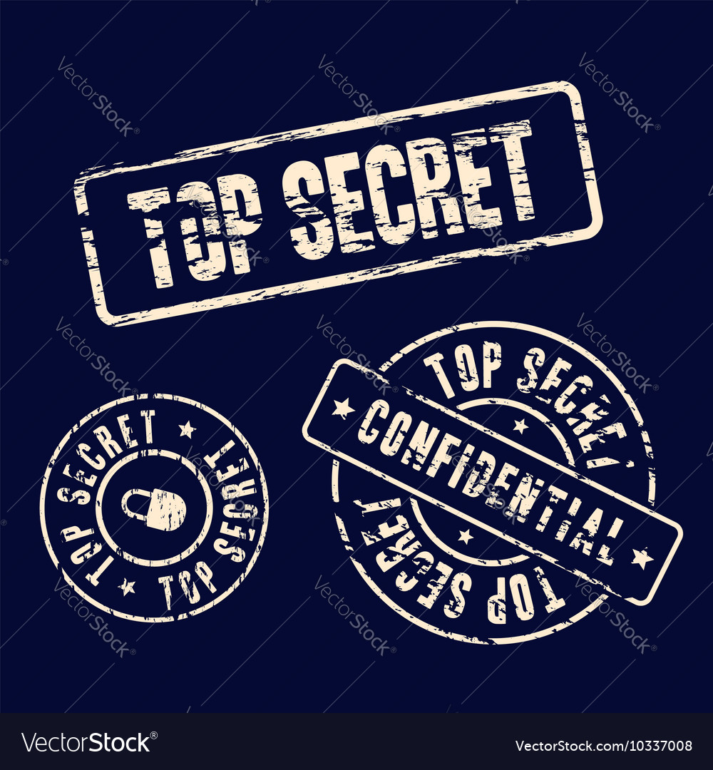 Top secret stamp set vector