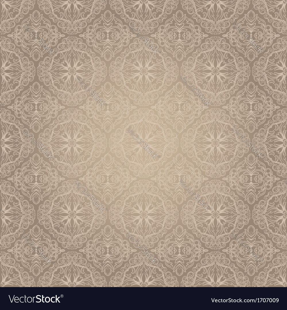 Light vintage seamless pattern vector