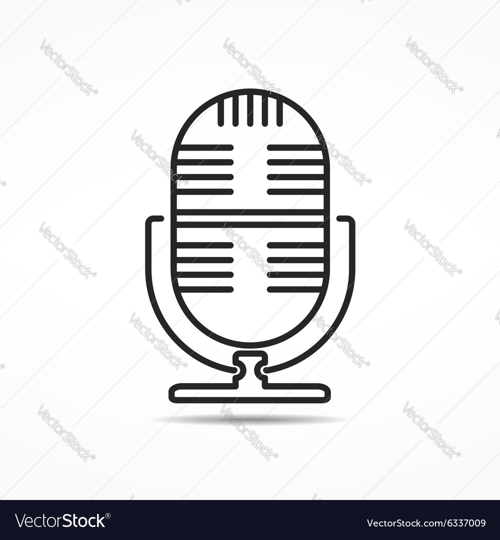 Microphone line icon vector