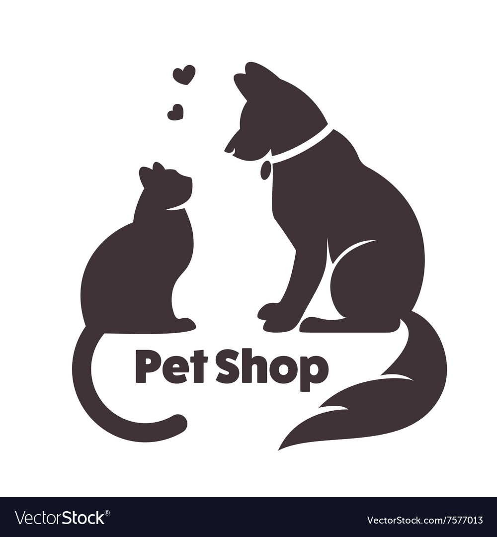Cat and dog signs and logo vector
