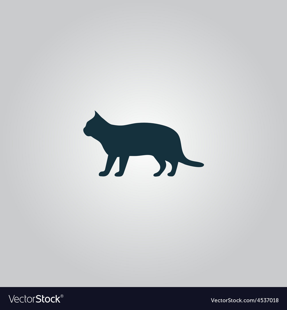 Silhouettes of cat vector