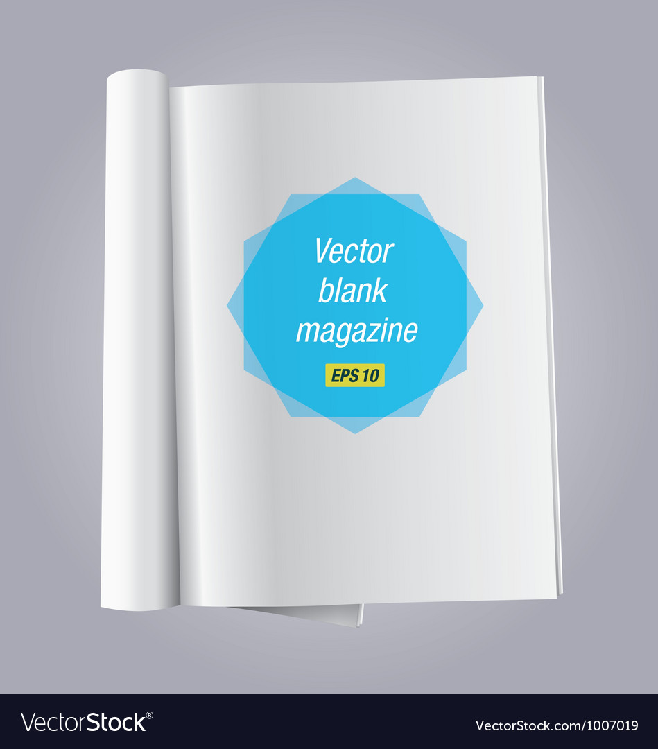 Blank open book vector