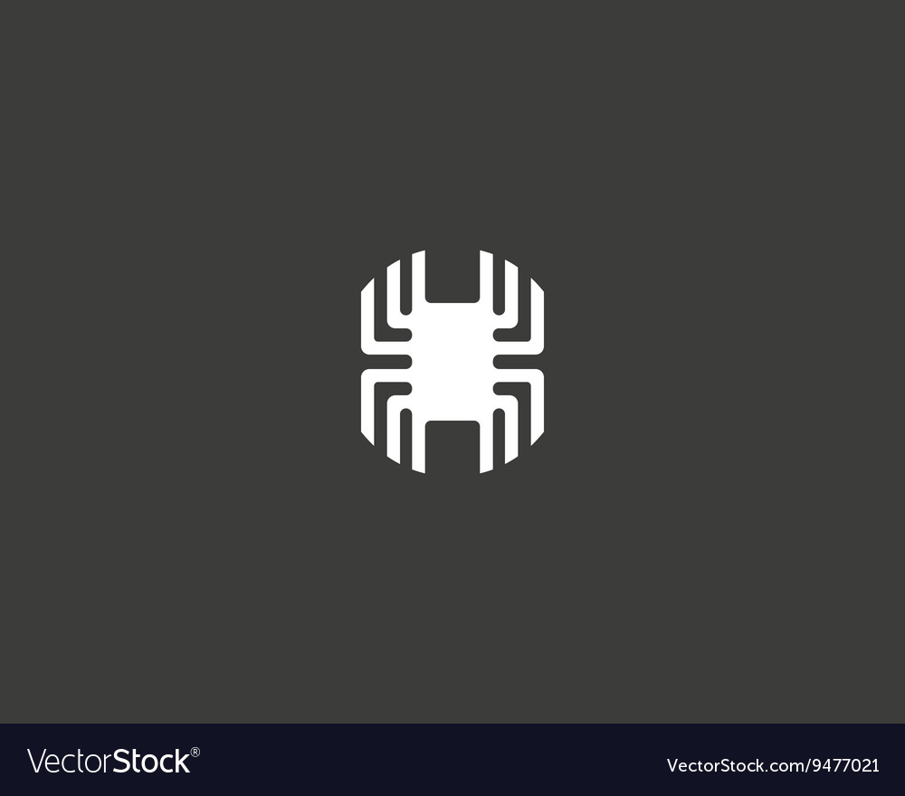 Technology logotype electronic logo chip vector
