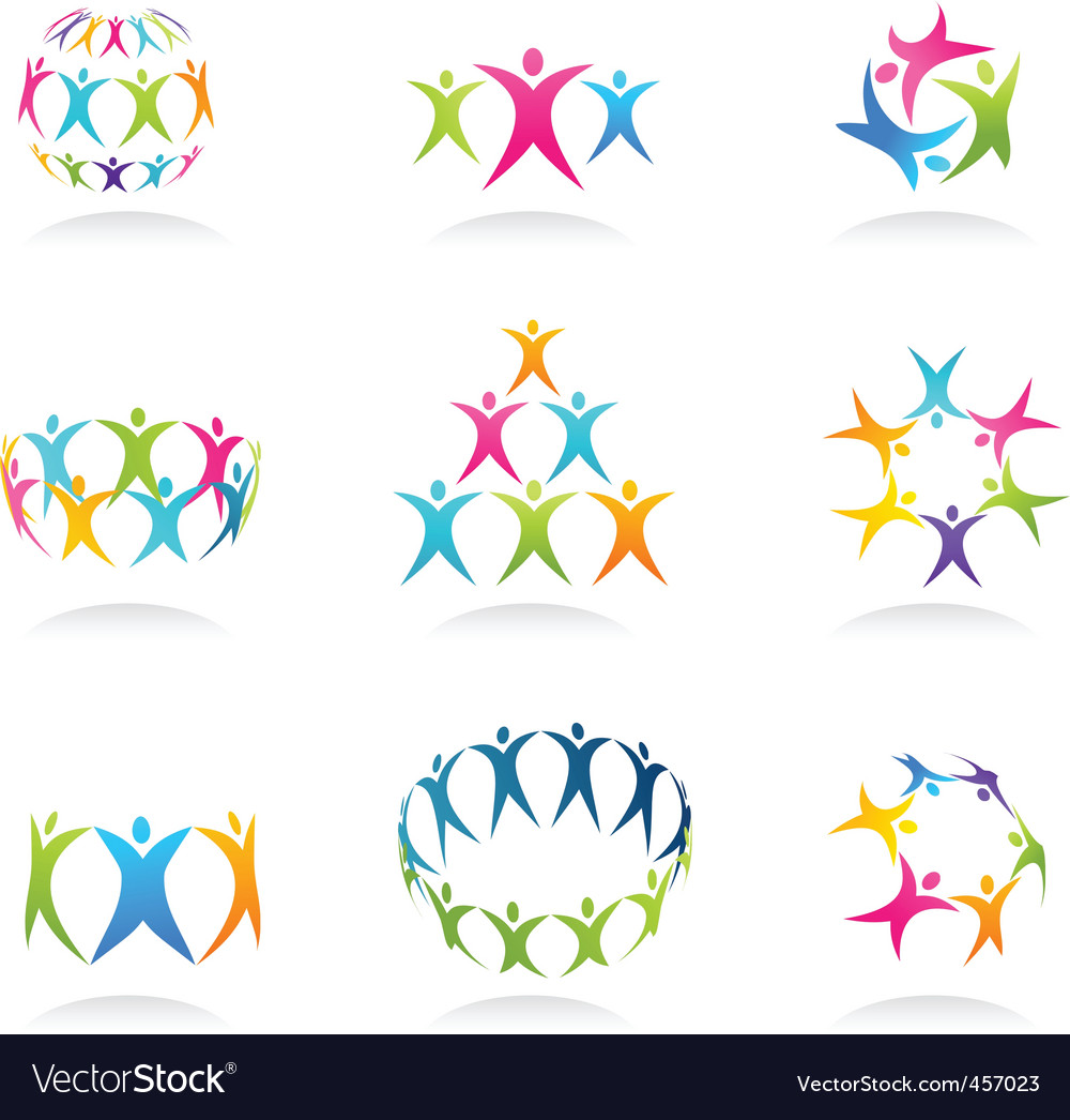 Abstract people icon vector
