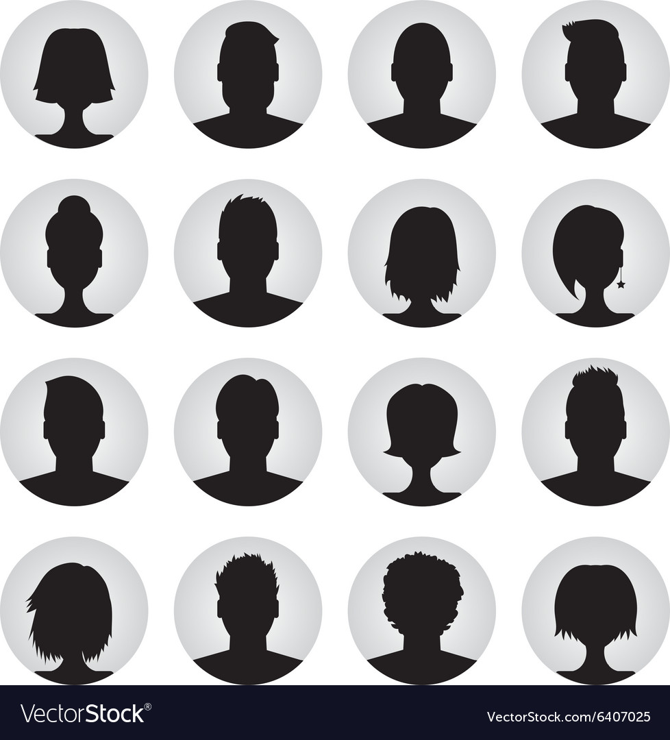 Set of user profile icons vector
