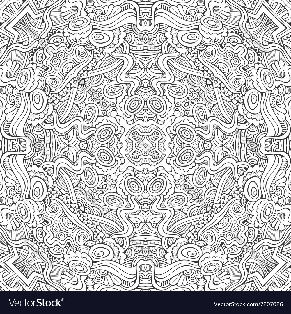 Abstract decorative ethnic hand drawn vector