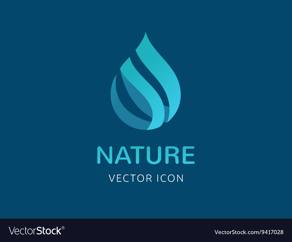 Water wave and drop icon symbols vector