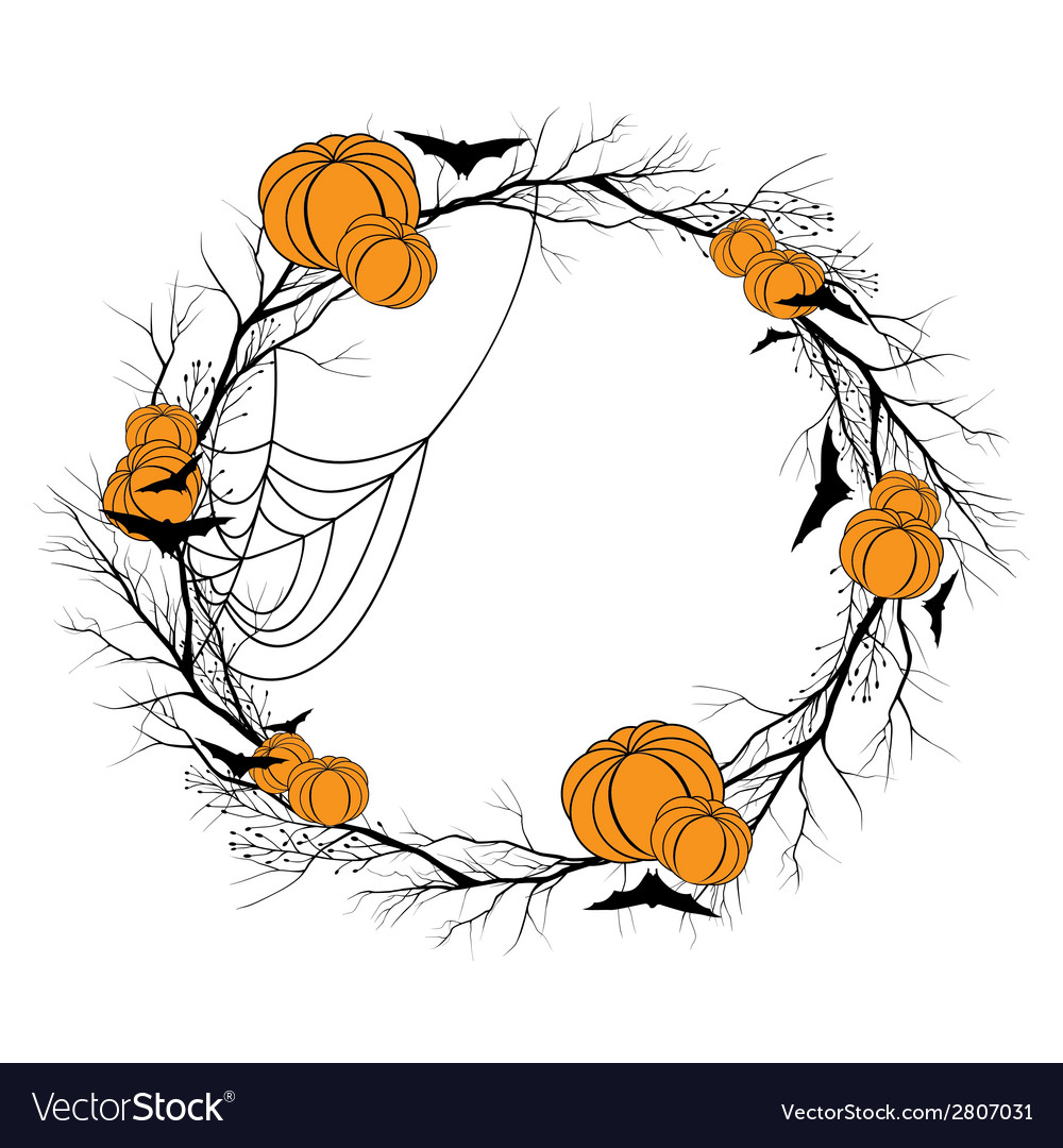 Halloween wreath vector