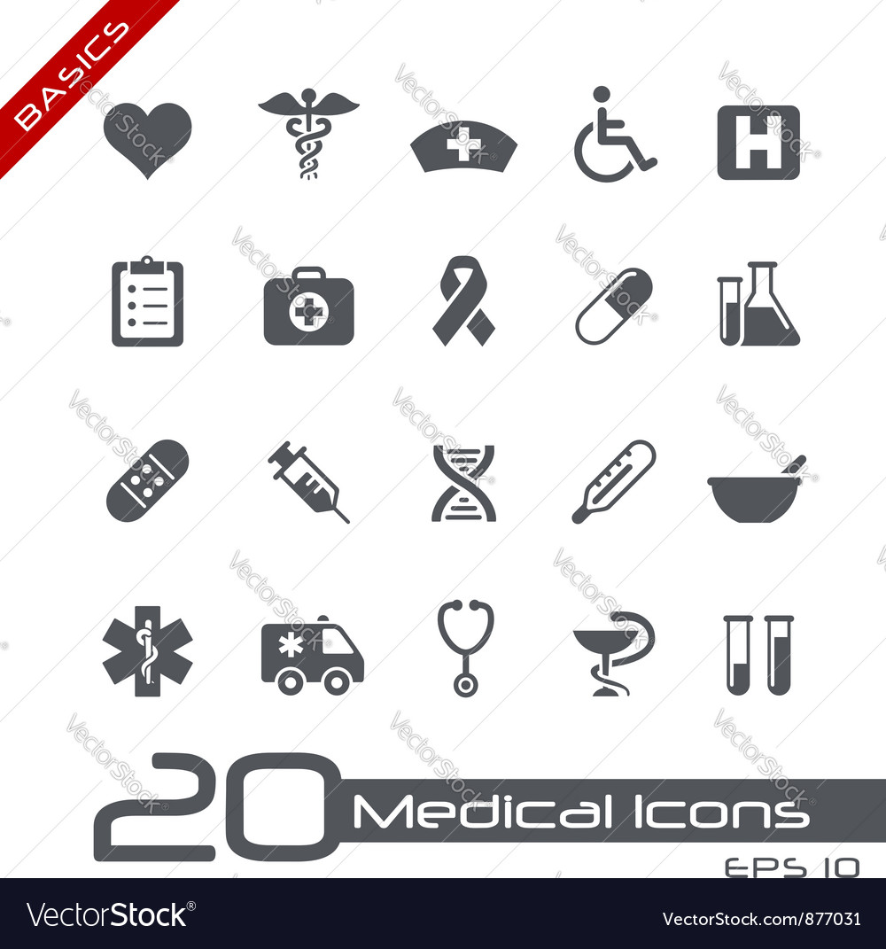 Medicine health care basics series vector
