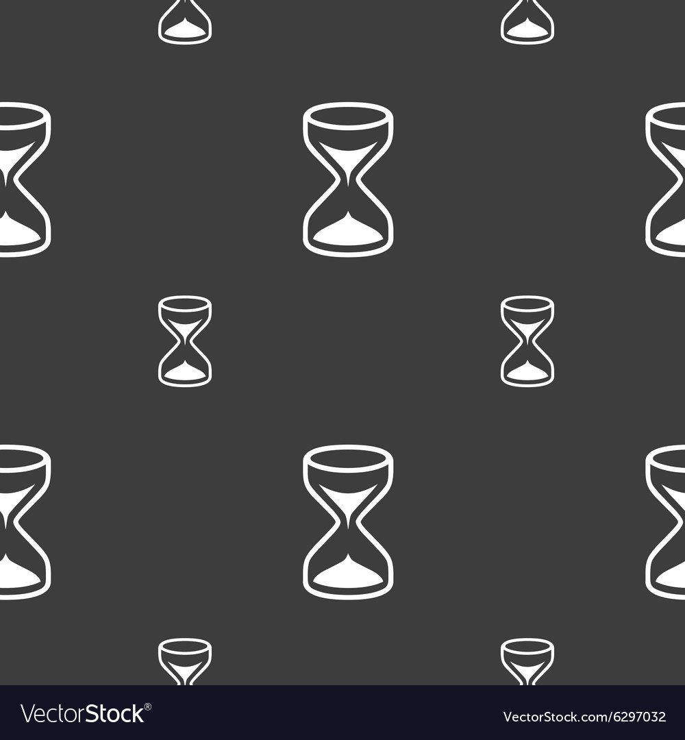 Hourglass sign icon sand timer symbol seamless vector