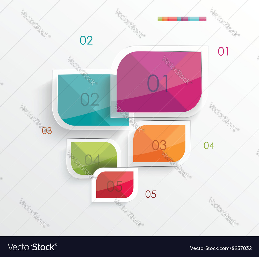 Modern minimalistic infographics banner vector