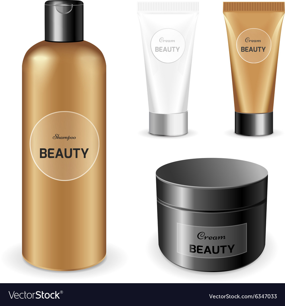 Makeup packaging product vector