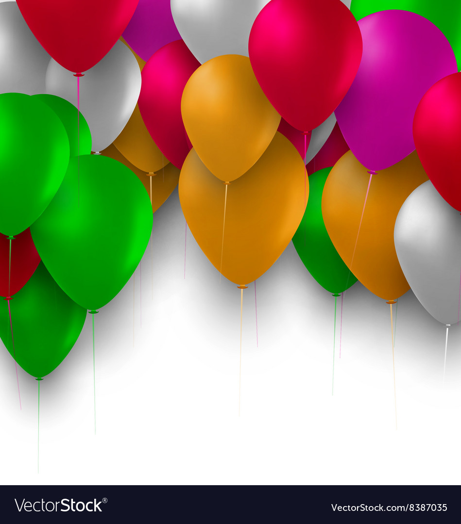 Birthday background with colorful balloons for vector