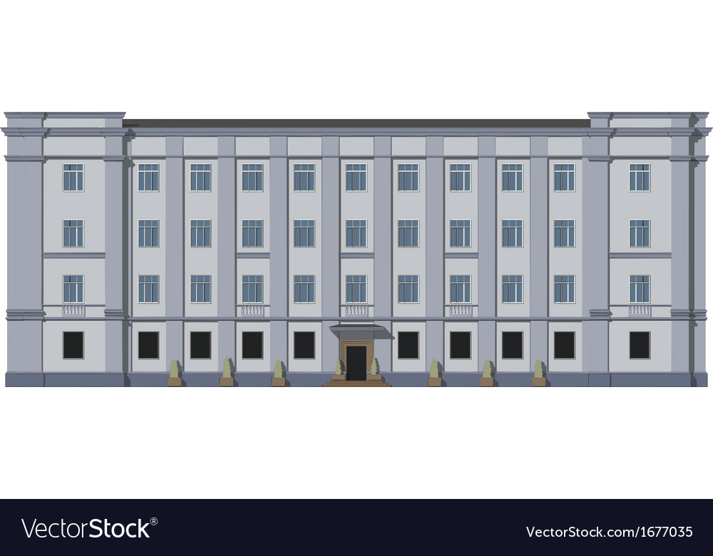 Facade of the building vector