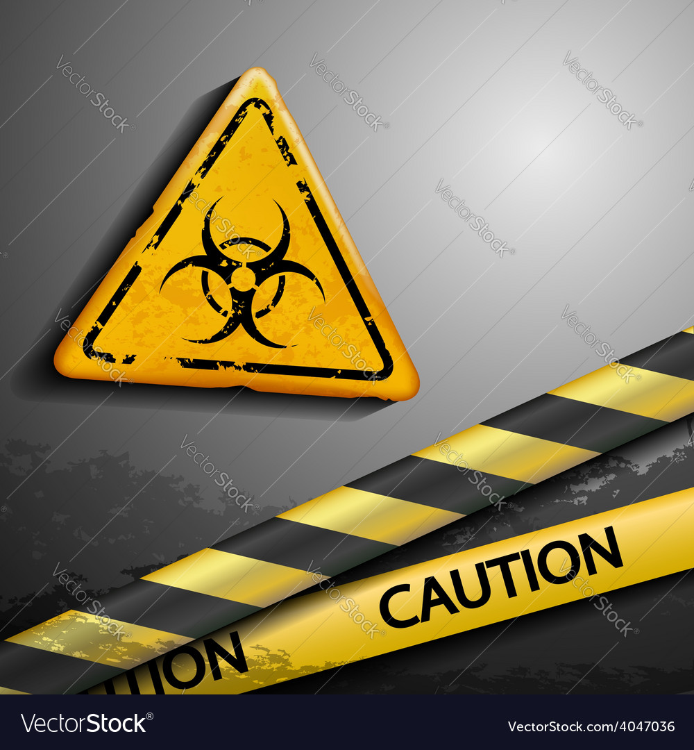 Biohazard symbol and warning tape vector