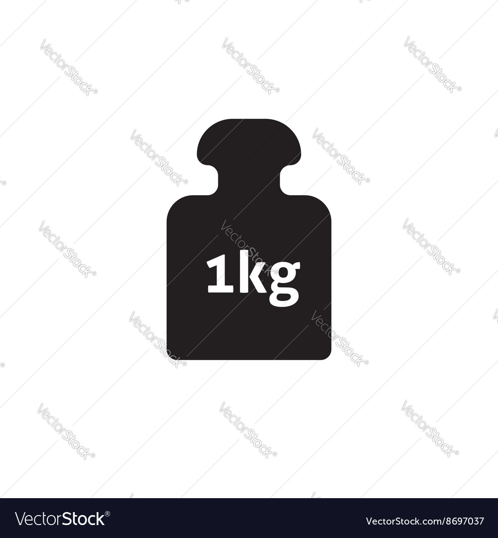 Weight 1 kg icon isolated on white vector