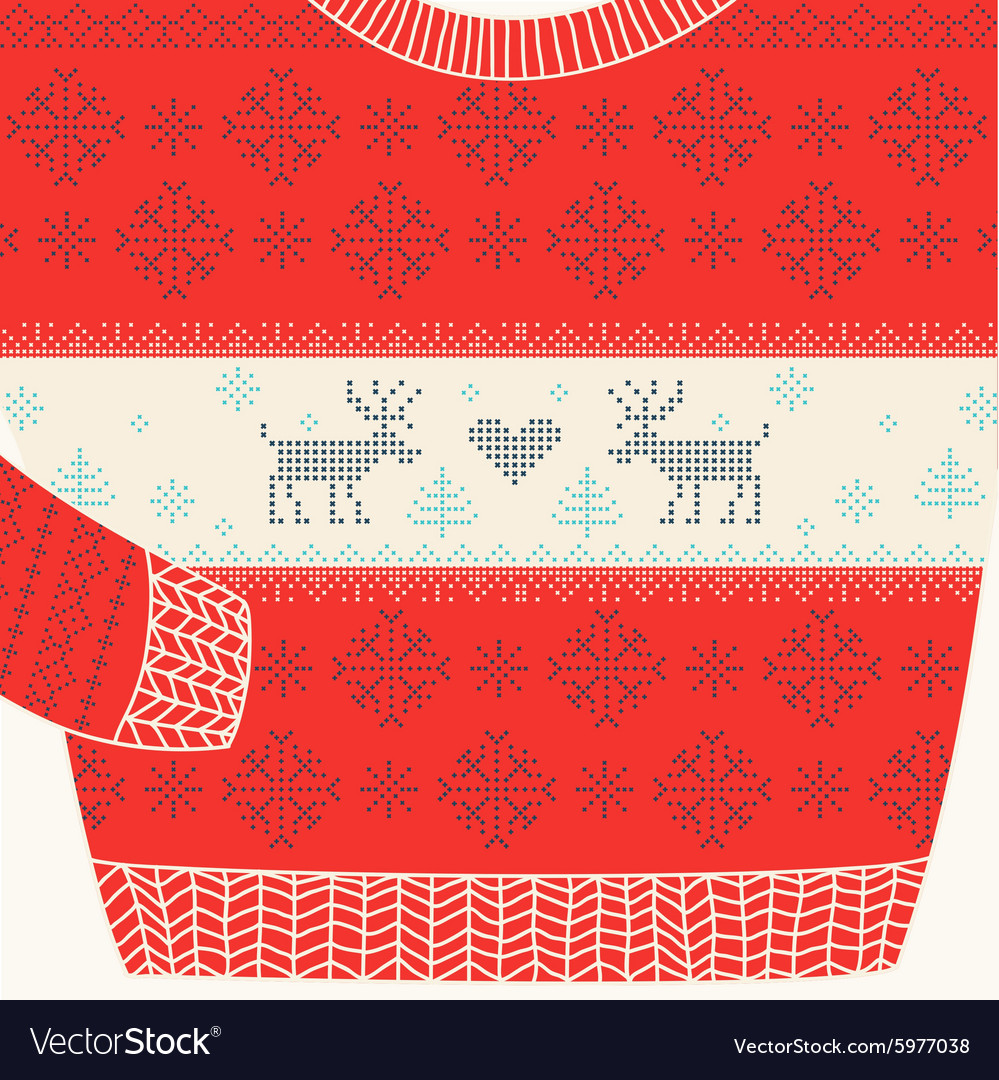 Christmas ornamental sweater  ugly party sweater vector