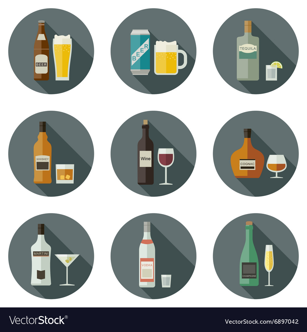 Beverages and drinks icons vector