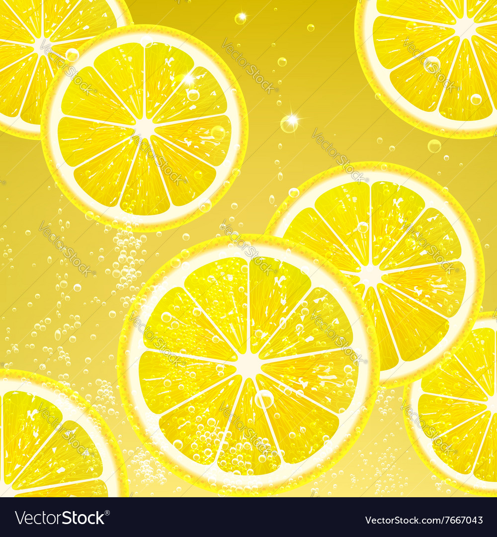 Lemonade with slices lemon vector