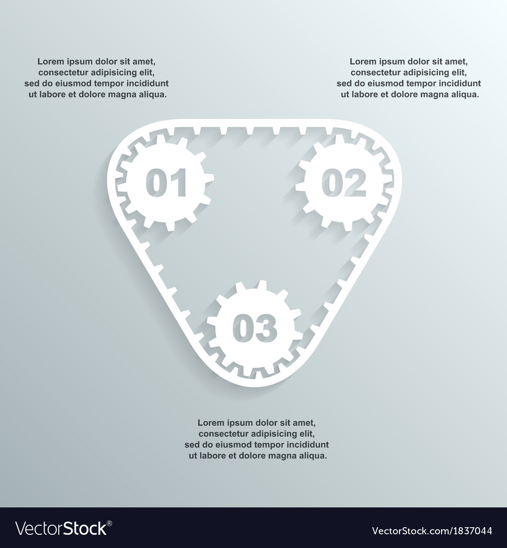 Paper gears infographic 2 vector