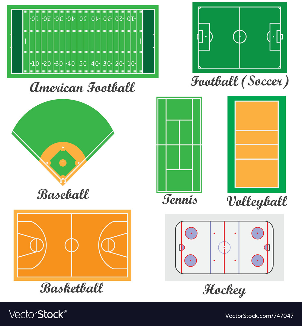 Fields for sport games vector