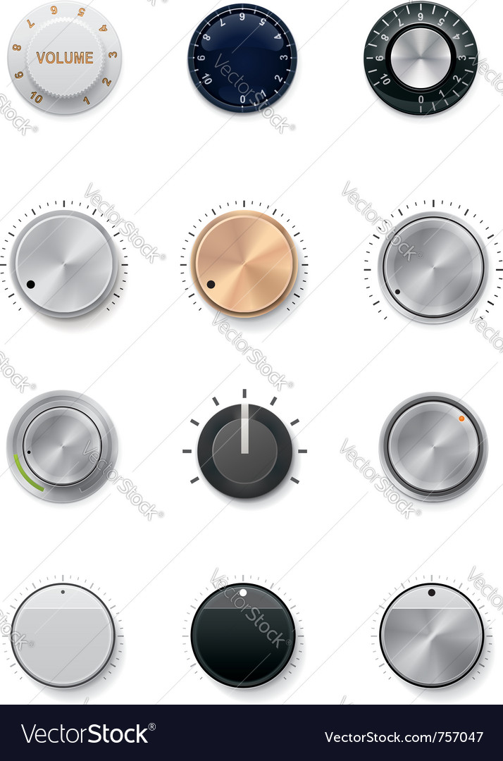 Knobs set vector