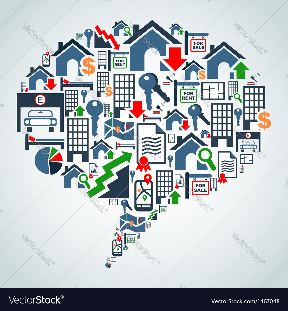 Property service in social media vector