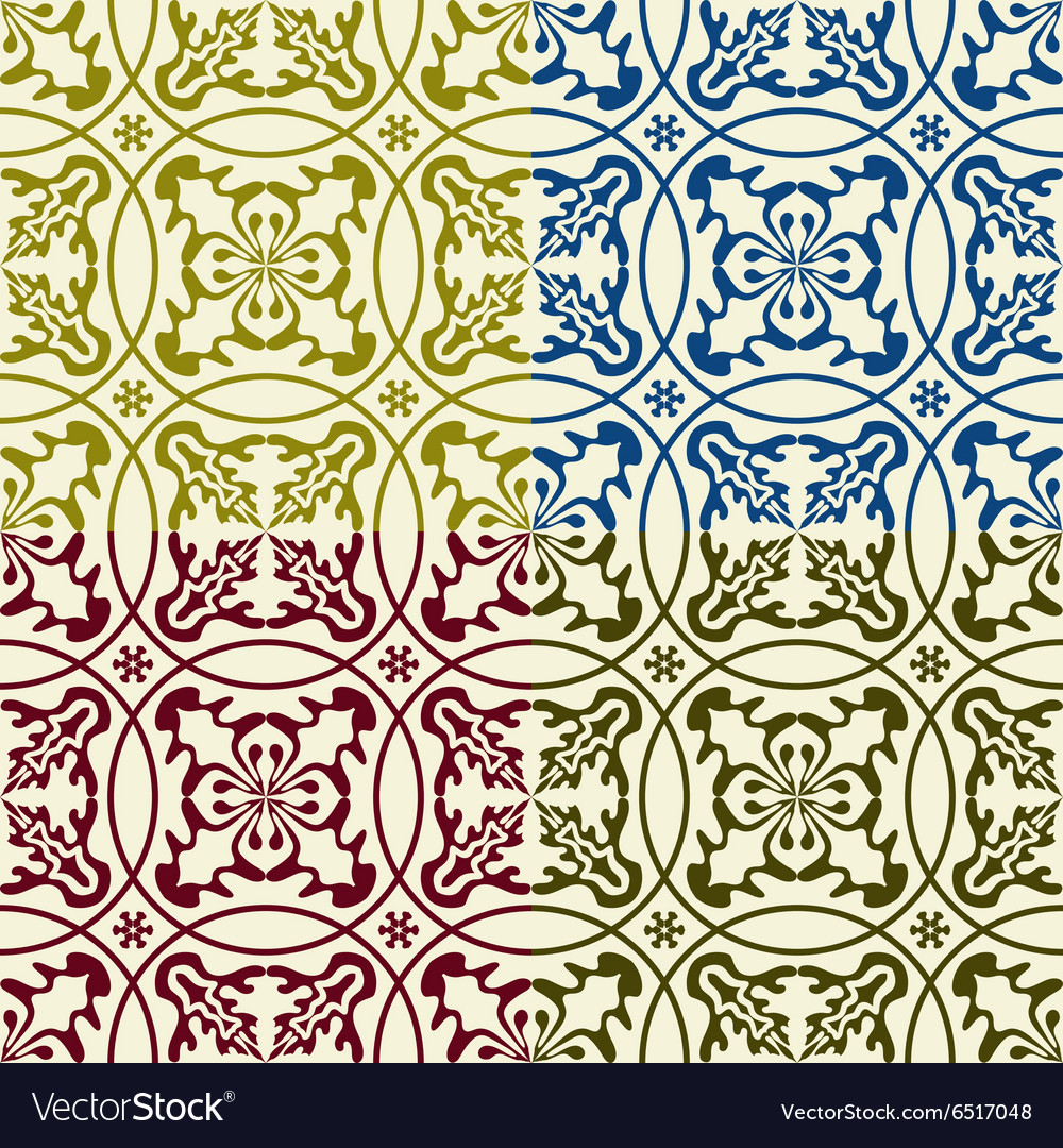 Seamless eastern patterns vector
