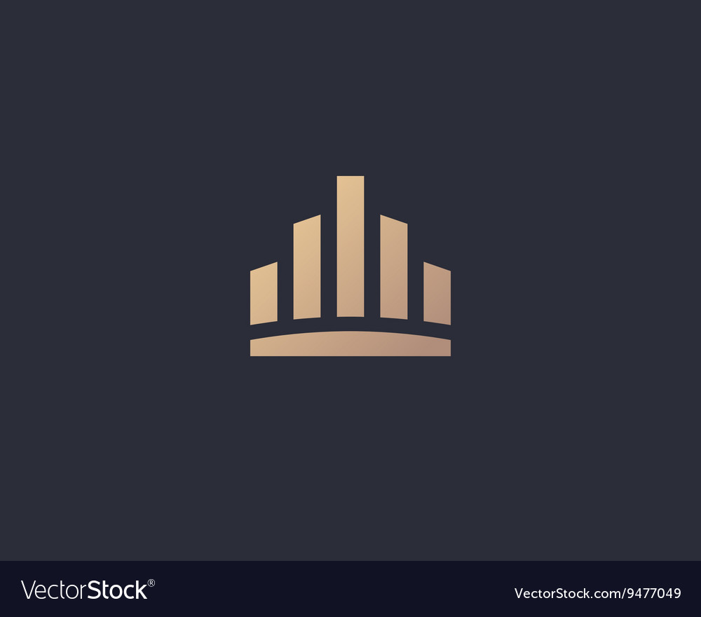 Abstract city town logo icon design crown vector