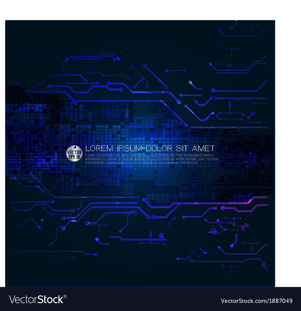 Frame with abstract circuit technology background vector