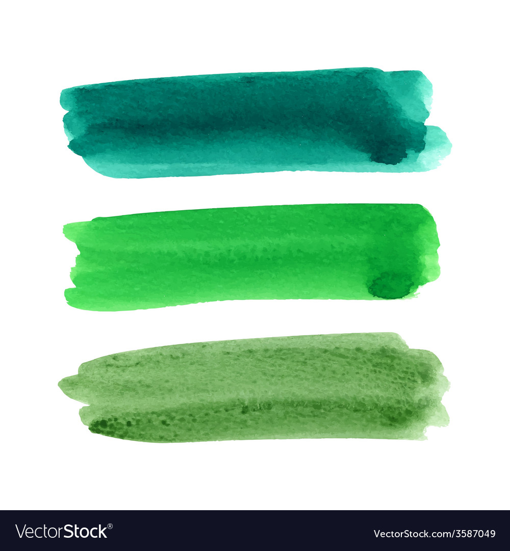 Watercolor brush stroke set vector