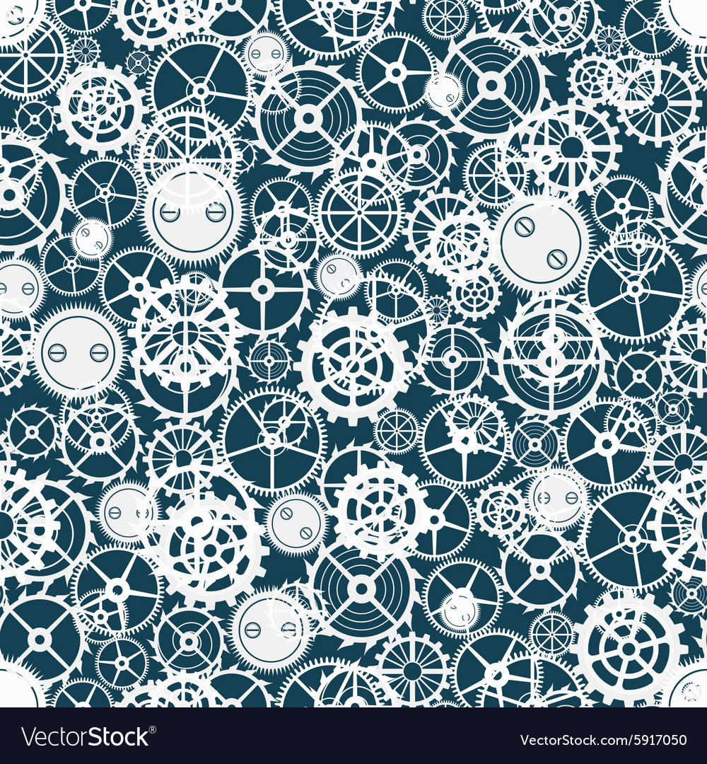 Seamless rusty cogwheel pattern vector