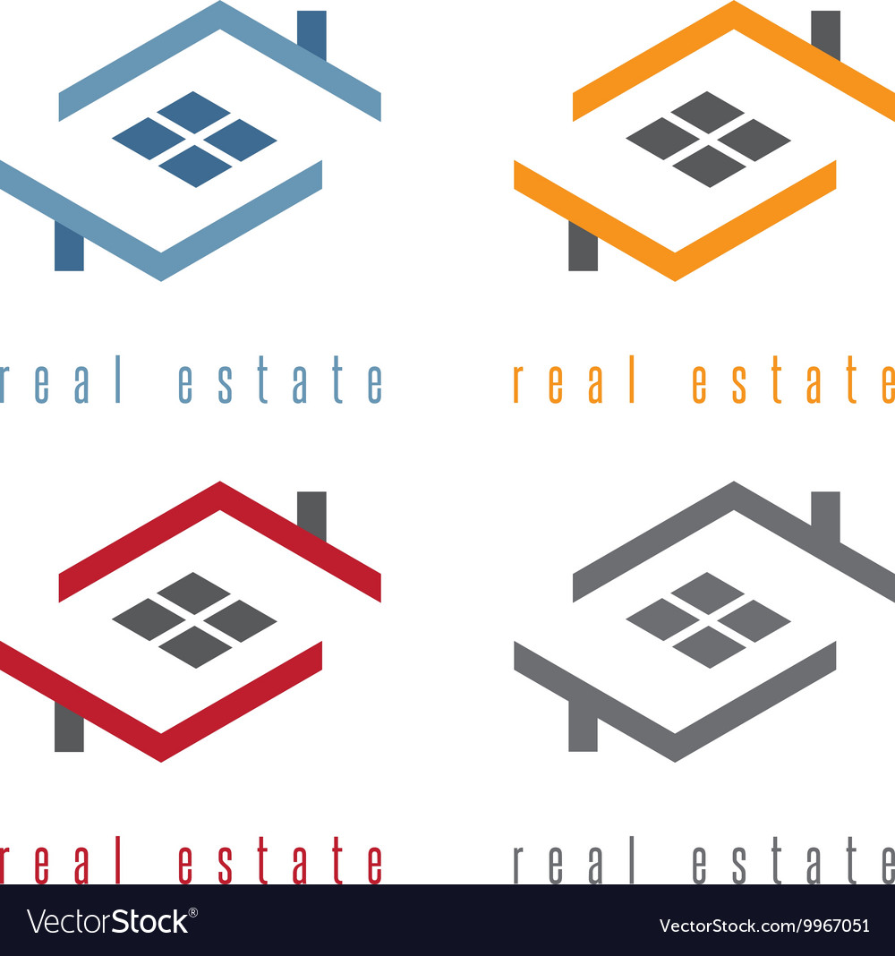 Set of residential real estate vector