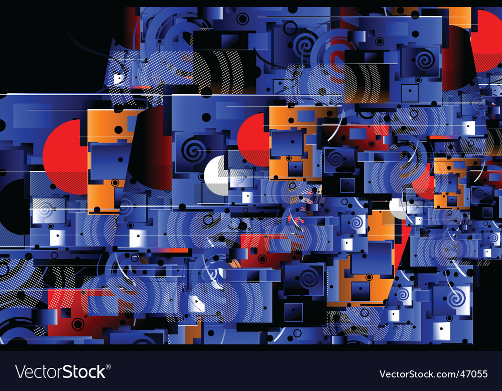 Abstract city scene vector