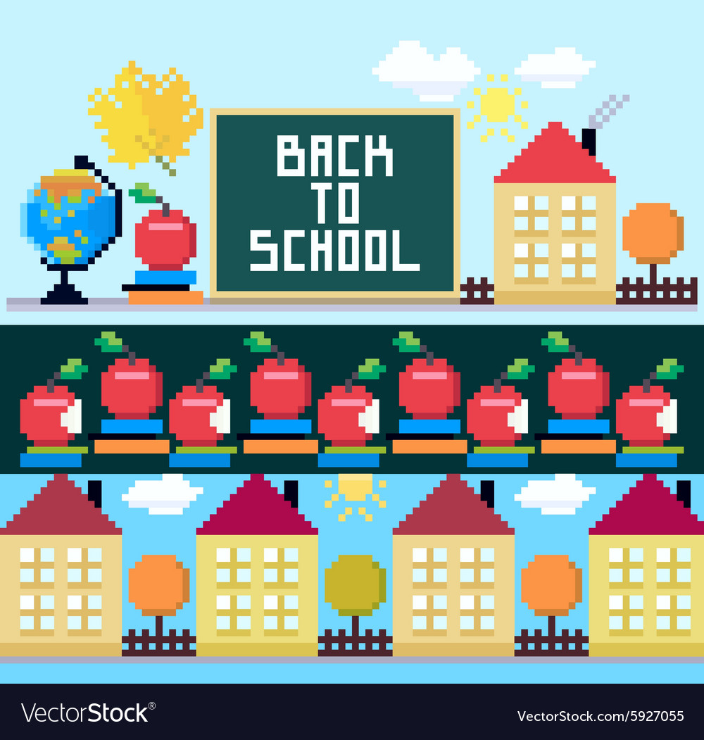 Back to school set of the objects and brushes vector