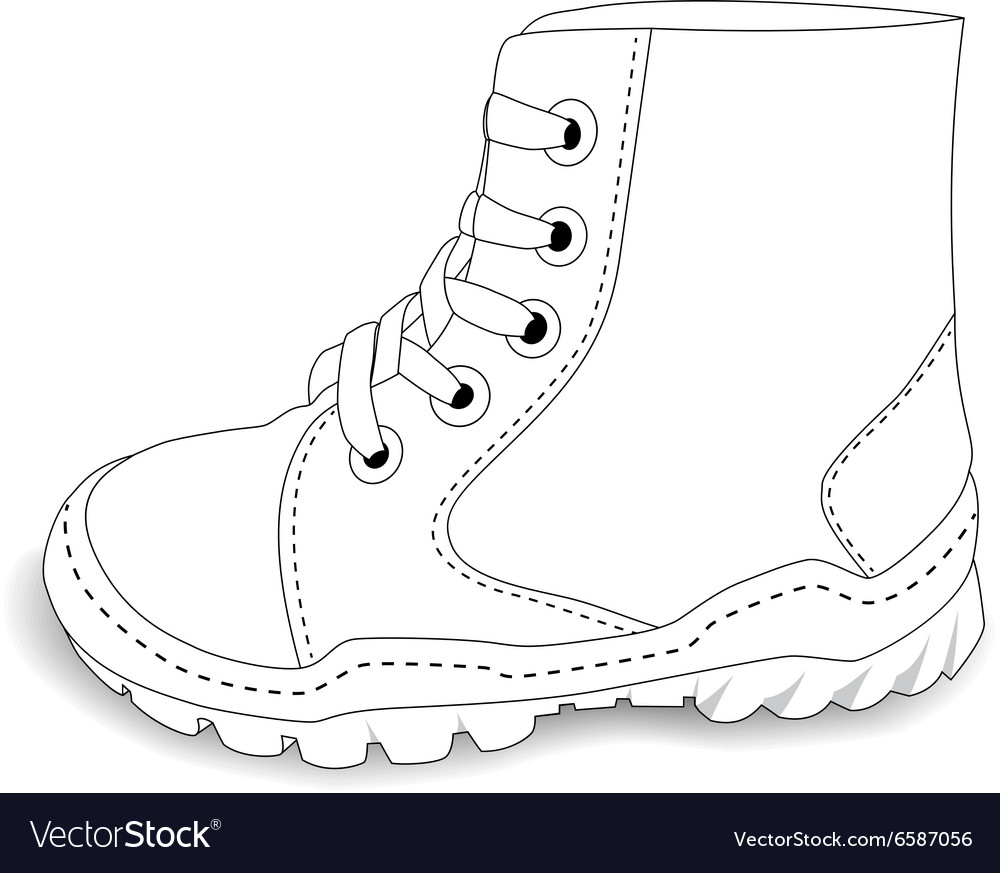 Baby shoes on white background vector