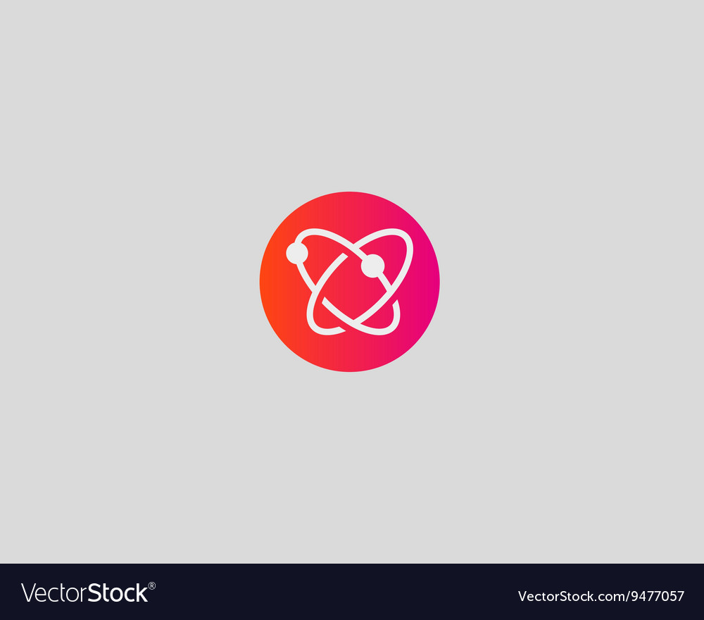 Abstract biotechnology molecule atom dna logo vector