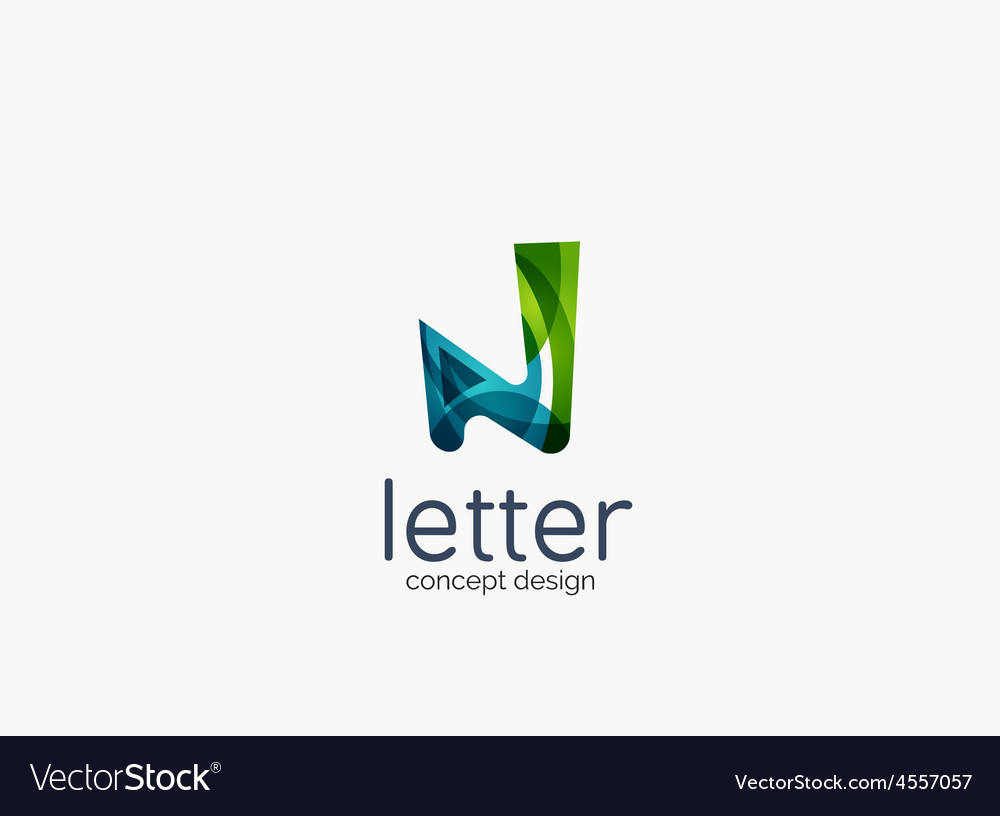 Modern company logo clean glossy design vector