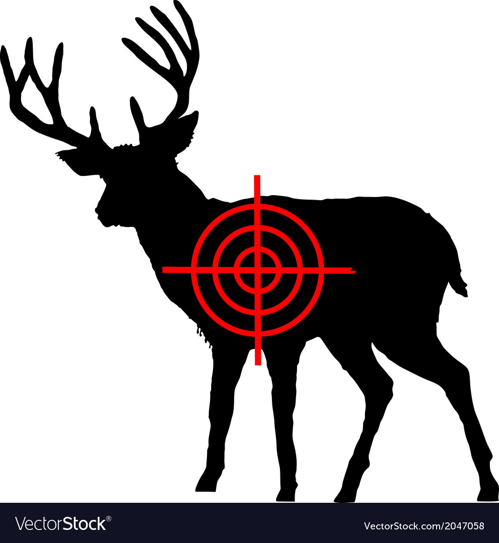 Red deer crosshair vector