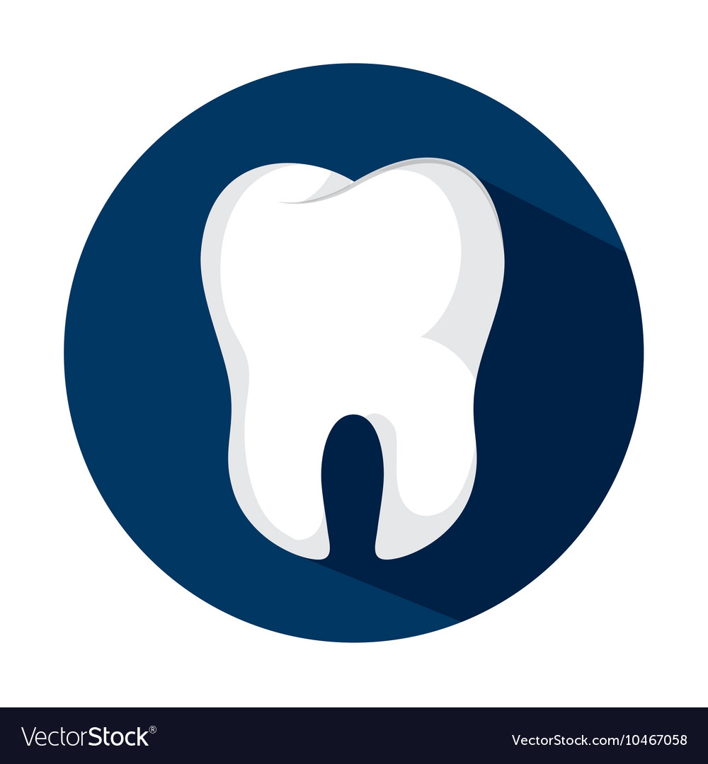 Tooth human seal icon vector