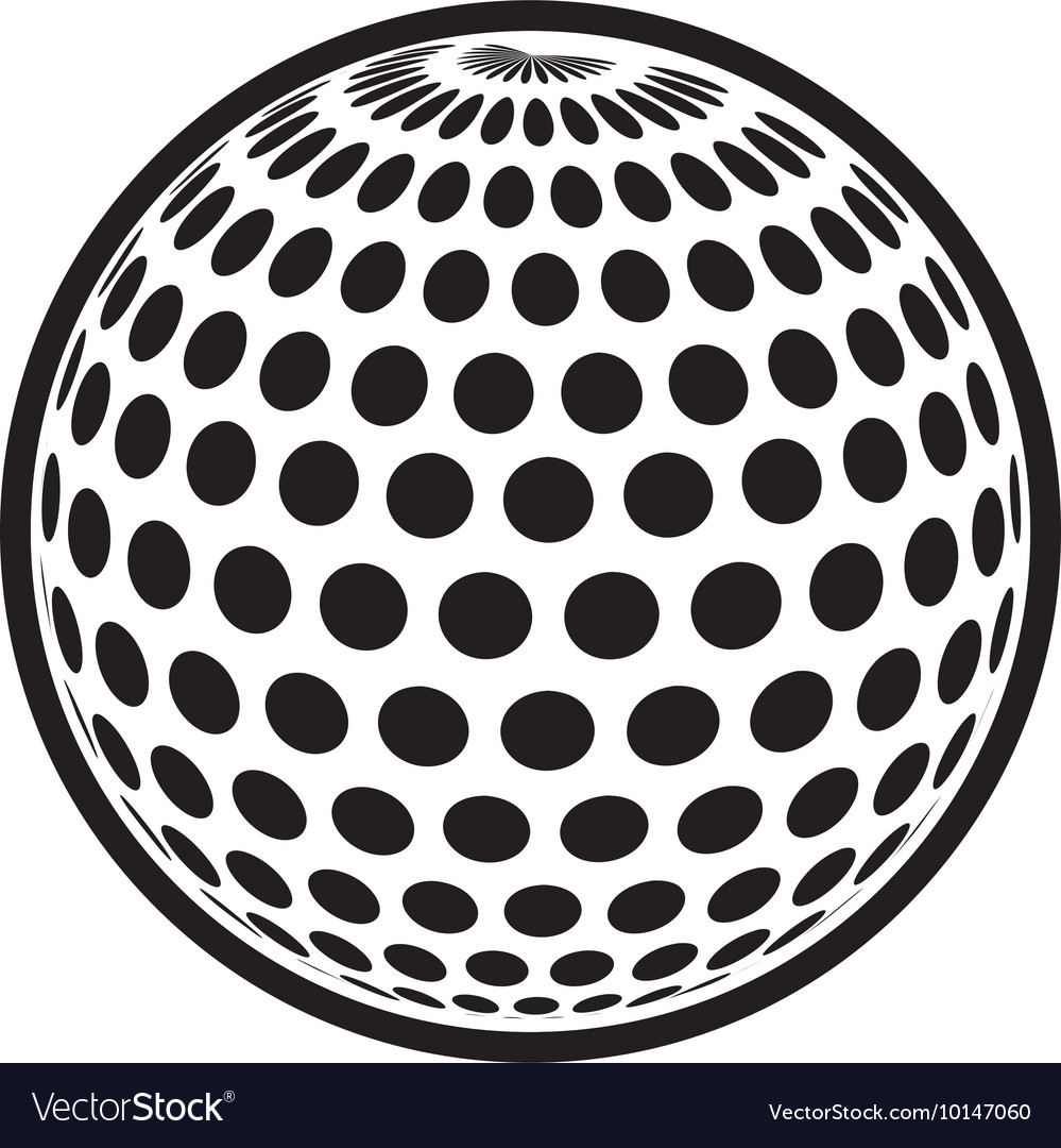 Golf ball sport hobby game icon graphic vector