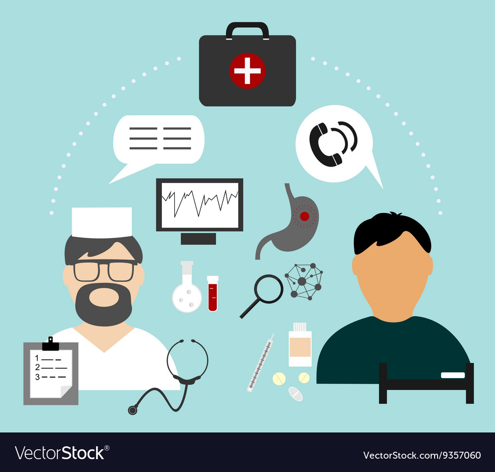 Info graphics are sick and the doctor and medical vector