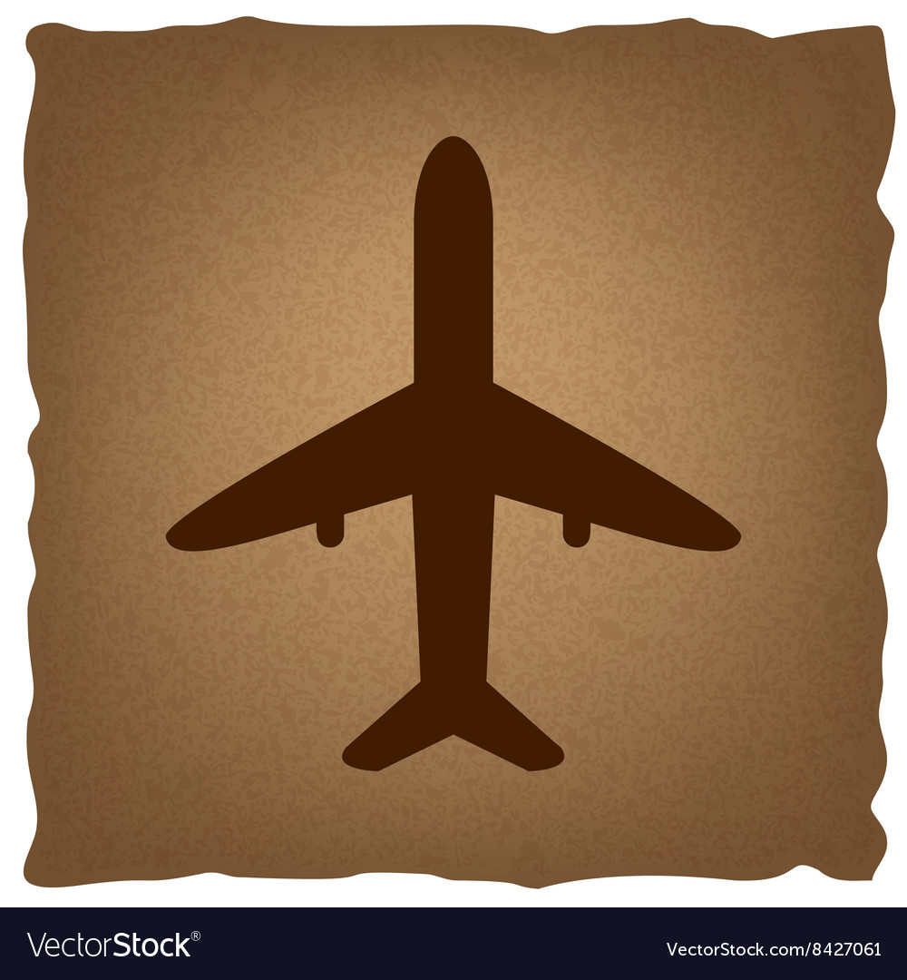 Airplane sign vintage effect vector