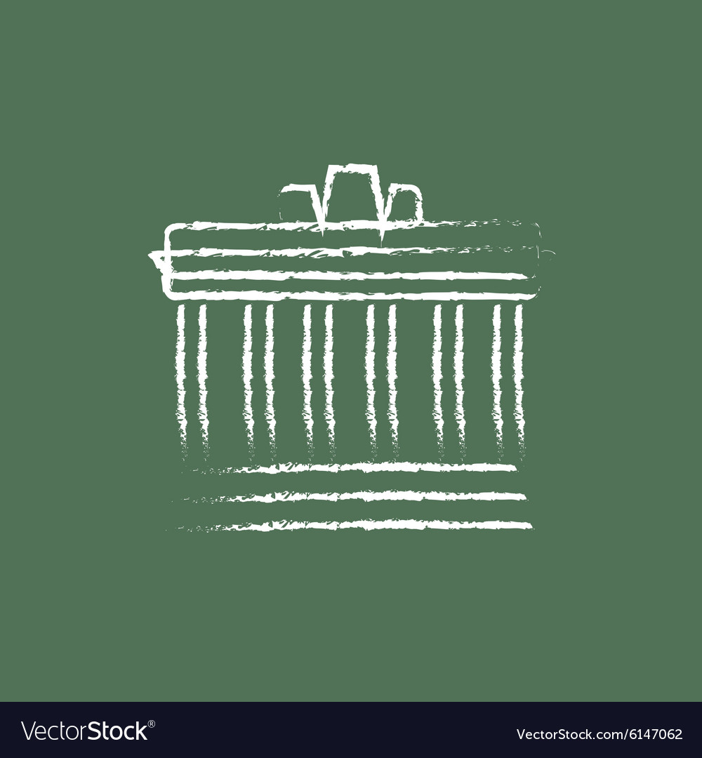 Acropolis of athens icon drawn in chalk vector