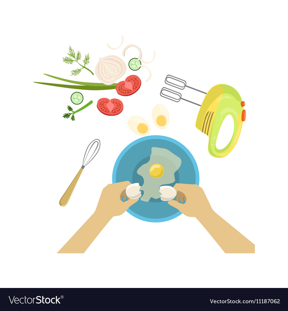 Child in cooking class with only vector