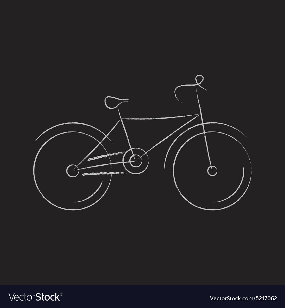 Stylized bicycle vector