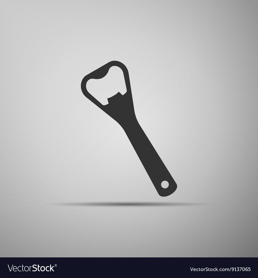 Close up of bottle opener icon vector
