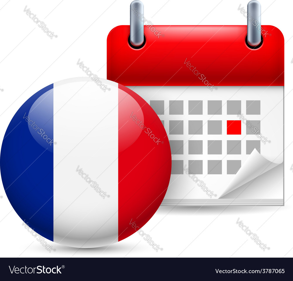 Icon of national day in france vector
