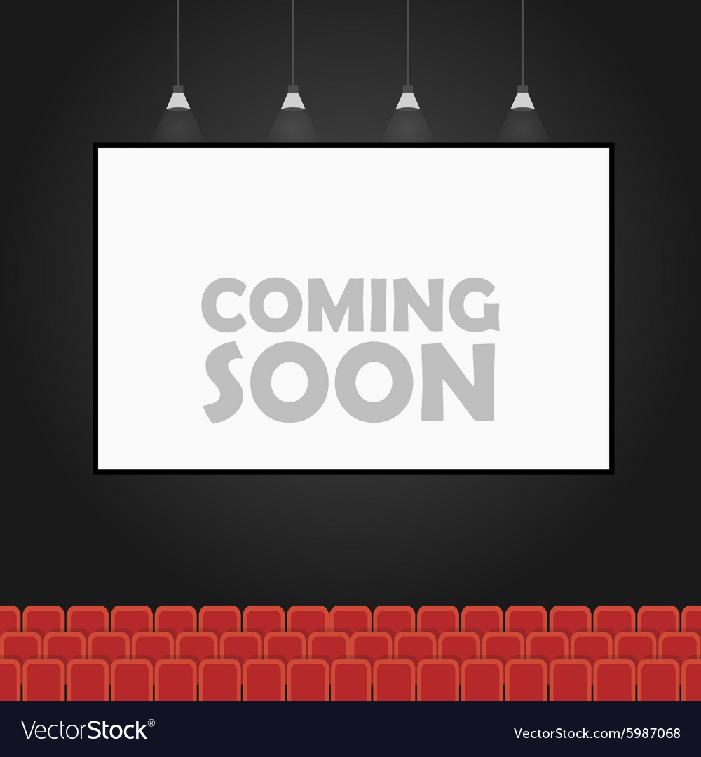 Coming soon theater banner concept vector