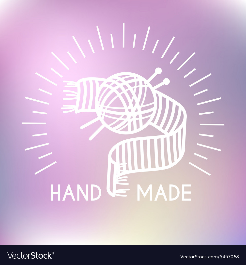 Hand made logo vector